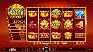 9 Masks of Fire Slot Game