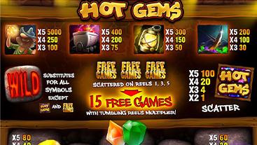 Hot Gems Slot Game