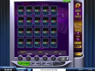 Play 4-Line Aces & Faces Videopoker Online