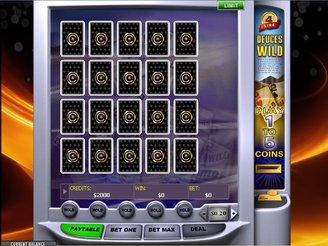 Play 4-Line Deuces Wild Videopoker Online