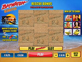 Play Baywatch Scratch Card Online