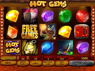 Spela Hot Gems Spelautomater Online