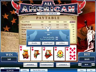 Spela All American Videopoker Online