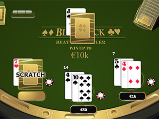 Play Blackjack Scratch Online