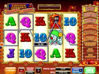 Spela Captain Cannon's Circus of Cash Spelautomater Online