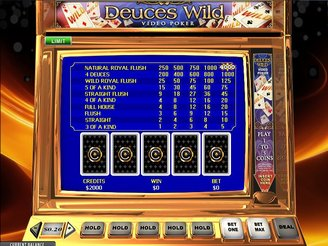 Play Deuces Wild Videopoker Online