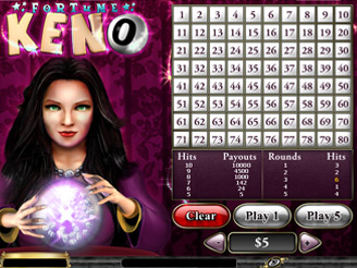 Play Fortune Keno Arcade Game