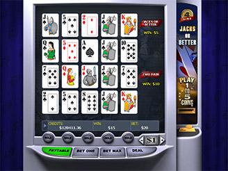 Play 4 Line Jacks or Better Videopoker Online