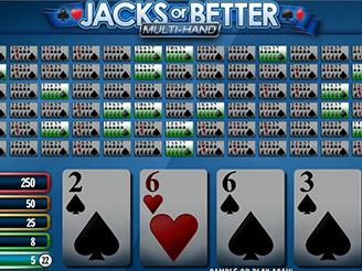 Spela Jacks or Better Multi Hand Videopoker Online