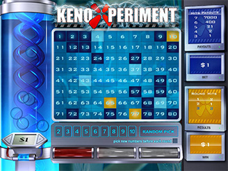 Play Keno Xperiment Arcade Game Online