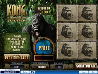 Spela Kong Scratch Online