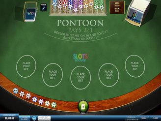 Play Pontoon Blackjack Online