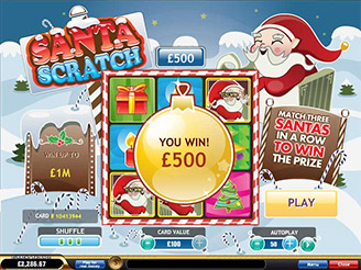 Spela Santa Scratch Online