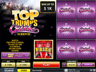 Play Top Trump Celebs Scratch Online