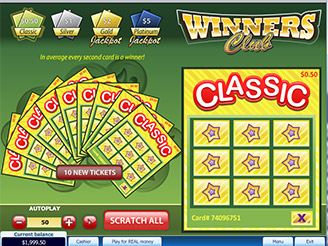 Play Winner Club Scratch Online